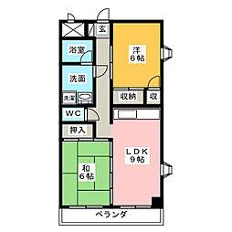 シティコート浜田[4階]の間取り