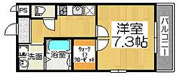 フジパレス石津川サウス[3階]の間取り