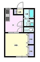 ドリームハウスII[2I号室]の間取り