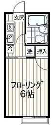コーポナカミゾII[102号室]の間取り