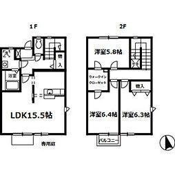 [テラスハウス] 広島県広島市佐伯区五月が丘2丁目 の賃貸【/】の間取り