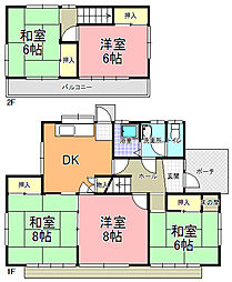 [一戸建] 茨城県水戸市双葉台2丁目 の賃貸【茨城県 / 水戸市】の間取り