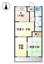 ランドスケープANDO I[2階]の間取り