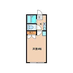 奈良県香芝市穴虫の賃貸マンションの間取り