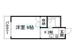 コーポ三和[5階]の間取り