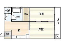 藤井ビル(西平塚)[3階]の間取り
