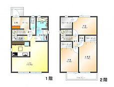 (参考プラン)間取図の一例です。参考プランを建築した場合の建物延床面積89.42平米、建物本体価格は付帯工事費も含め1580万円です。太陽光の設置・屋上庭園の費用は別途実費要。