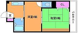 三ツ木コーポ富士見台[3階]の間取り