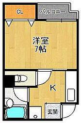 サンクレール2[3階]の間取り