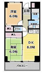 エスポアールキンダ[5階]の間取り