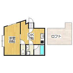 赤坂ビル[4F号室]の間取り