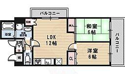 ダイコーパーク 6階2LDKの間取り