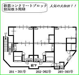 大和田コーポ[201号室]の間取り