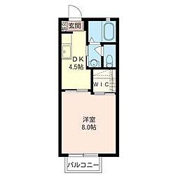 リヴェールG[1階]の間取り