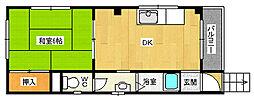 平石マンション[301号室]の間取り