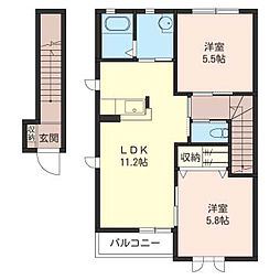メゾン・K−III[2階]の間取り