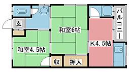 高芝荘[2-3号室]の間取り