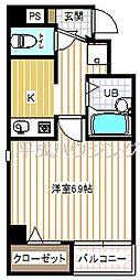 BUILDING・K[302号室]の間取り