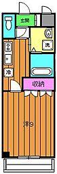 ベルコート浜寺石津[102号室]の間取り
