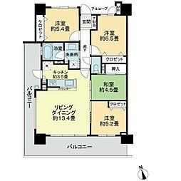 徳島県徳島市佐古一番町の賃貸マンションの間取り