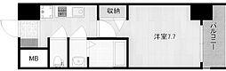 阪堺電気軌道阪堺線 聖天坂駅 徒歩2分の賃貸マンション 4階1Kの間取り