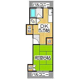 竹田ハイツ[2階]の間取り