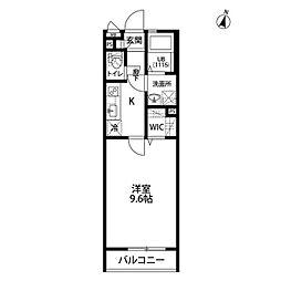 wisteria[106号室]の間取り