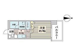 S-RESIDENCE円山表参道 7階1Kの間取り