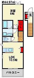 ラッフィナートカーサ A棟[201号室]の間取り