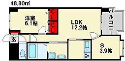 グランデスカイ空港南[8階]の間取り