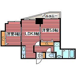 ル・ノール福住[6階]の間取り