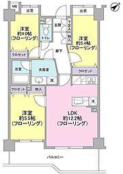 アルシオン宮崎台[4F号室]の間取り