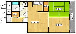 清水丘グリーンハイツ[3階]の間取り