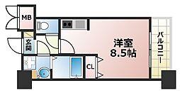 ラウル六甲道[5階]の間取り