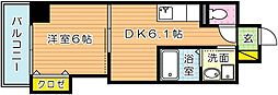 THE SQUARE Suite Residence(ザ・ス[605号室]の間取り