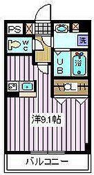 埼玉県さいたま市南区辻4丁目の賃貸マンションの間取り