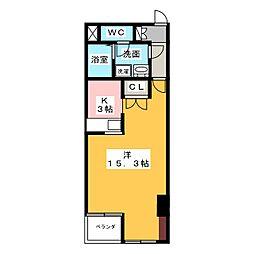 愛知県名古屋市中村区黄金通2丁目の賃貸マンションの間取り