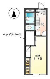 ロンシャンハイツ[2階]の間取り