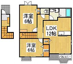 グランドソレイユI[2階]の間取り