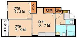サニーコート川島II[1階]の間取り