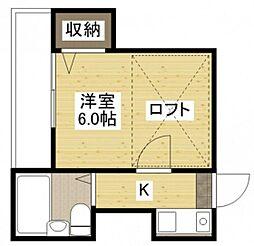 Raffine KUSATSU[2階]の間取り