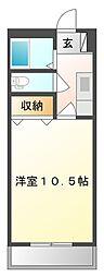 ぐろーぶ倉敷[102号室]の間取り