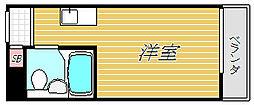 東京都品川区西五反田3丁目の賃貸マンションの間取り