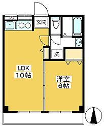 小川橋コーポ[102号室]の間取り