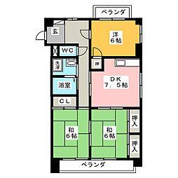 第7サワータウン[2階]の間取り