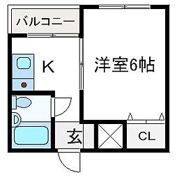 エヴァグリーン・タナカ[2階]の間取り