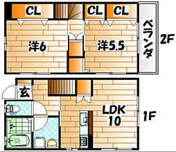 HAMAX[1階]の間取り