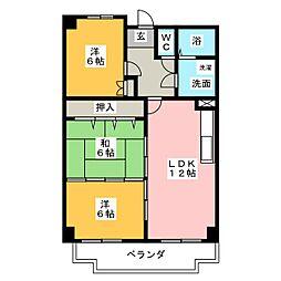 平安ビル[6階]の間取り