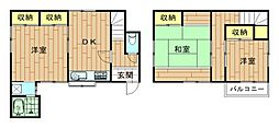 [一戸建] 神奈川県川崎市中原区小杉陣屋町2丁目 の賃貸【/】の間取り