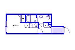 (仮称)ベイルーム新子安 3階ワンルームの間取り